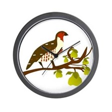 Partridge and Pear Tree Wall Clock