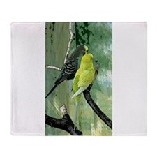 Budgie Throw Blanket