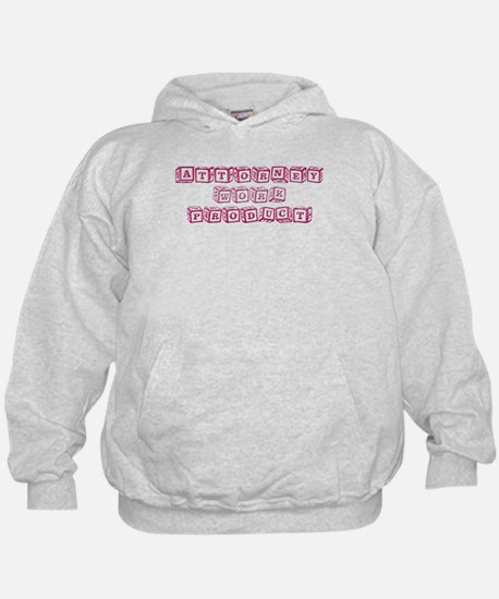 Attorney Work Product (Pink) Hoodie