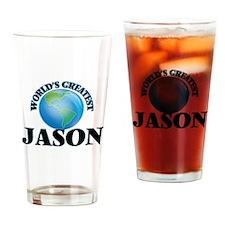 World's Greatest Jason Drinking Glass
