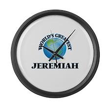 World's Greatest Jeremiah Large Wall Clock
