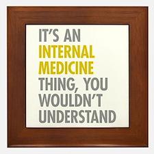 Internal Medicine Thing Framed Tile
