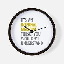 Internal Medicine Thing Wall Clock