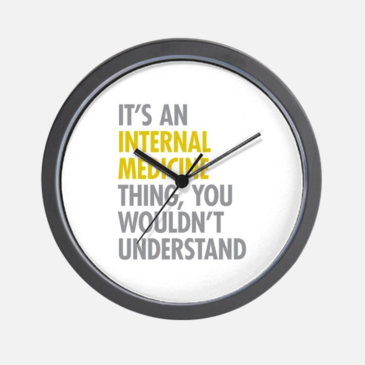 Internal Medicine Thing Wall Clock