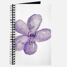 Live, Laugh, Love Watercolor Flower Journal