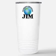 World's Greatest Jim Stainless Steel Travel Mug