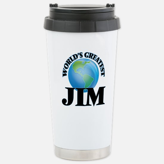World's Greatest Jim Stainless Steel Travel Mug