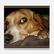 Beagle ~ One Love Tile Coaster
