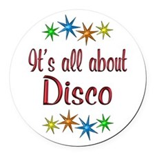 About Disco Round Car Magnet