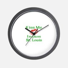 Kiss me I'm from St. Louis Wall Clock