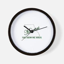 Missouri . . . The Show-Me St Wall Clock