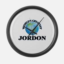 World's Greatest Jordon Large Wall Clock