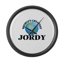 World's Greatest Jordy Large Wall Clock