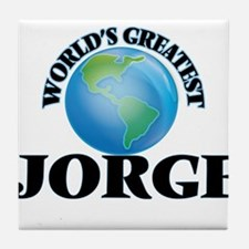 World's Greatest Jorge Tile Coaster
