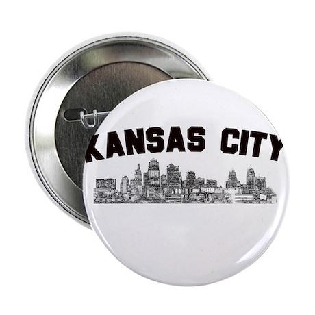 "Kansas Cioty Skyline 2.25"" Button (100 pack)"