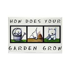 Garden Westies Rectangle Magnet
