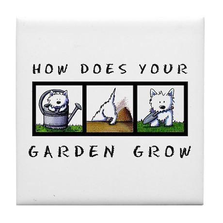 Garden Westies Tile Coaster