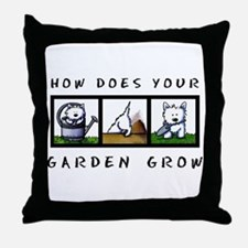 Garden Westies Throw Pillow