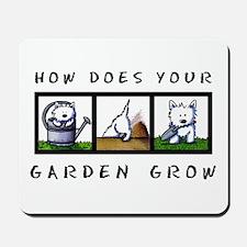 Garden Westies Mousepad