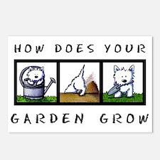Garden Westies Postcards (Package of 8)