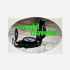 World traveler Rectangle Magnet