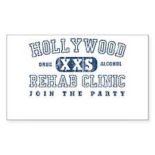 Hollywood Rehab Clinic Rectangle Decal
