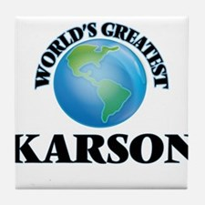 World's Greatest Karson Tile Coaster