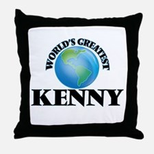 World's Greatest Kenny Throw Pillow