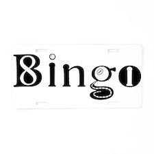 The Bingo Road Aluminum License Plate