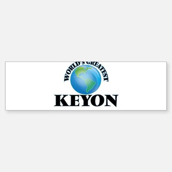 World's Greatest Keyon Bumper Car Car Sticker