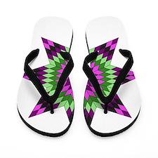Native Purple Star Flip Flops