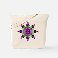 Native Purple Star Tote Bag