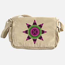 Native Purple Star Messenger Bag