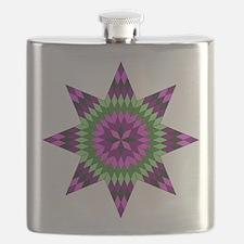 Native Purple Star Flask
