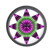 Native Purple Star Wall Clock