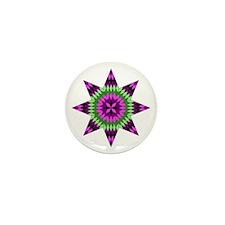 Native Purple Star Mini Button (10 pack)