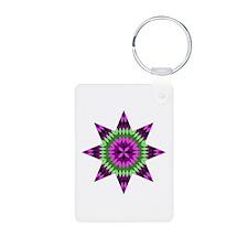 Native Purple Star Keychains