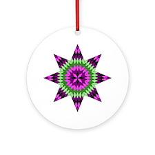 Native Purple Star Ornament (Round)