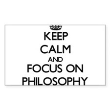Keep Calm and focus on Philosophy Decal
