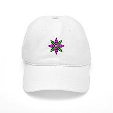 Purple and Green Star Baseball Cap