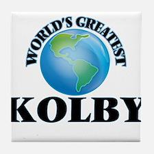 World's Greatest Kolby Tile Coaster