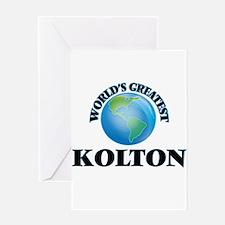 World's Greatest Kolton Greeting Cards