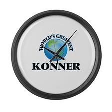 World's Greatest Konner Large Wall Clock