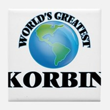World's Greatest Korbin Tile Coaster