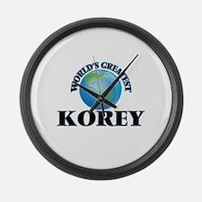 World's Greatest Korey Large Wall Clock