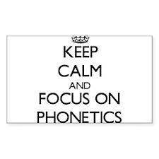 Keep Calm and focus on Phonetics Decal
