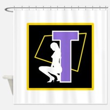 Naughty Initial Design (T) Shower Curtain