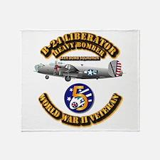 Aac - 43rd Bg - 64th Bs - 5th Air Fo Throw Blanket