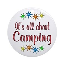 About Camping Ornament (Round)