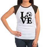 Soccer Women's Cap Sleeve T-Shirt